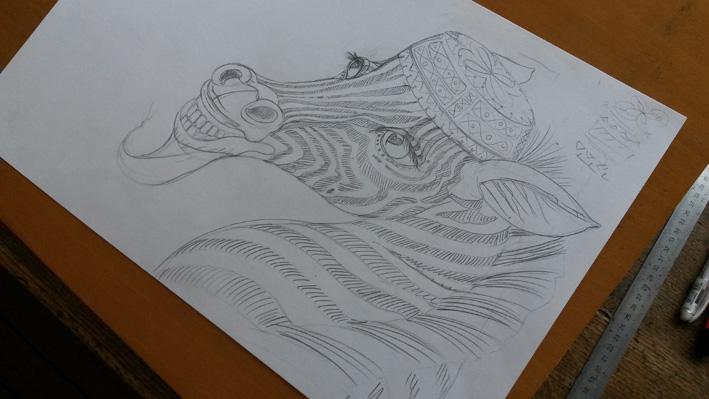 le droma daire qui voulait voir la mer_zabou_le marabout qui sait tout zaboudessin fait main