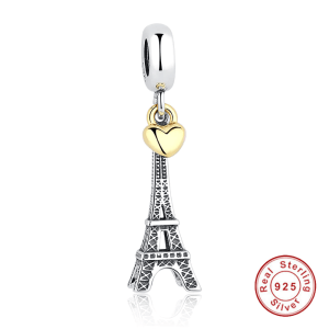 0_925-Sterling-Silver-EIFFEL-TOWER-PENDANT-CHARM-Gold-Heart-Bead-fit-Original-Pandora-Bracelet-Necklace-DIY