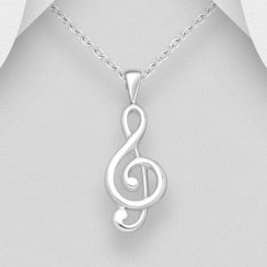 Pandantiv Nota muzicala din Argint