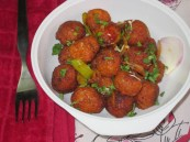 veg manchuria serving bowl