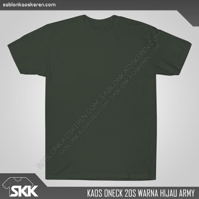 Kaos Polos Combed 20s Hijau Army