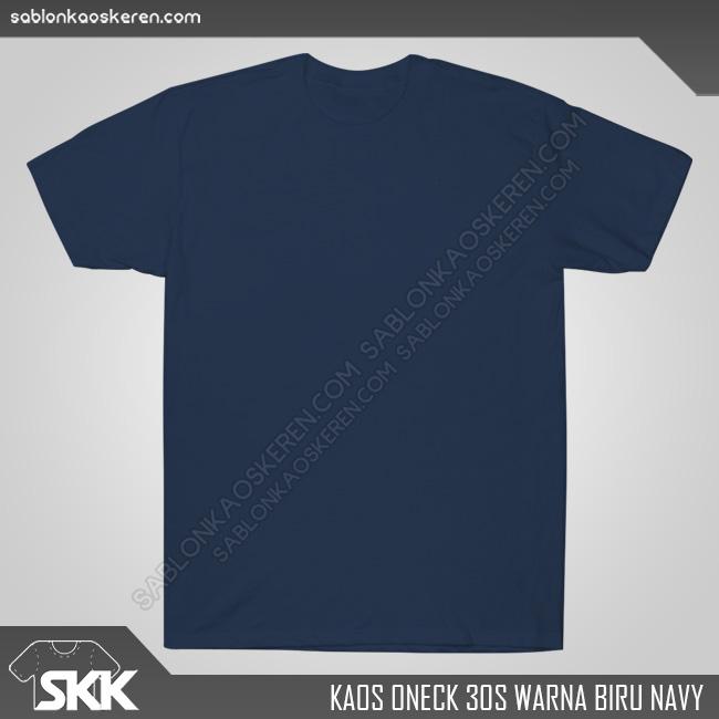 Kaos Polos Combed 30s Biru Navy