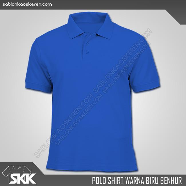 Polo Shirt Warna Biru Benhur