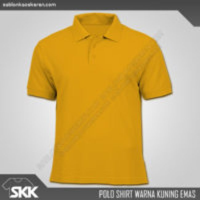 Polo Shirt Warna Kuning Emas