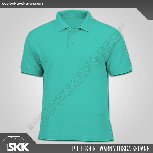 Polo Shirt Warna Tosca Sedang