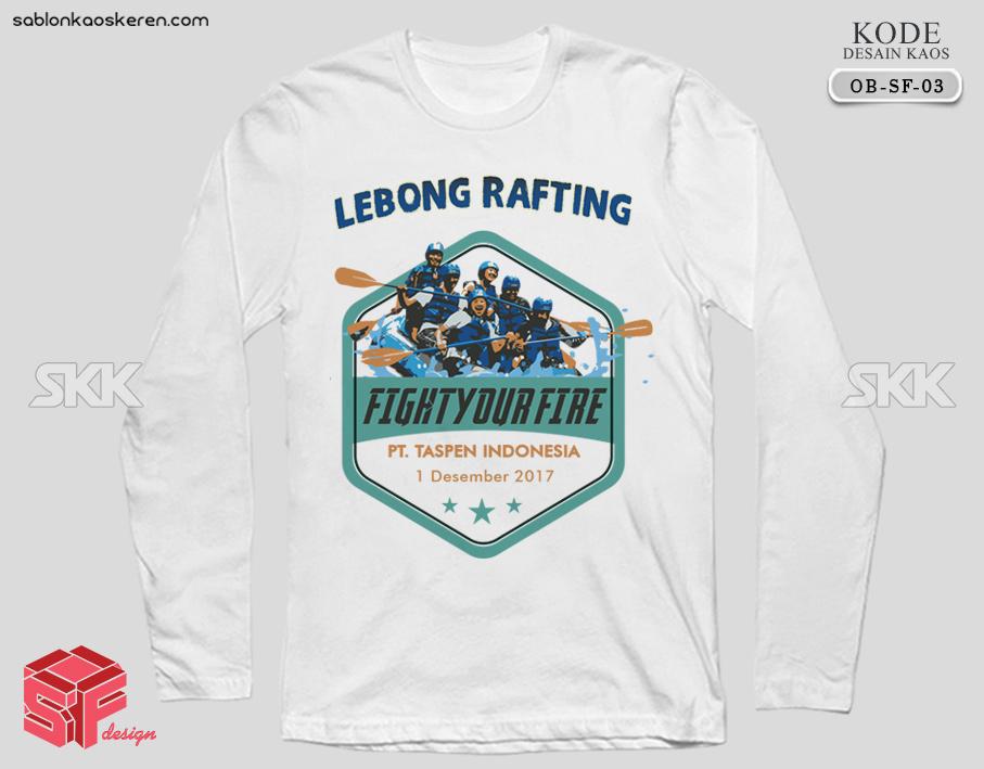Desain Kaos Lebong Rafting