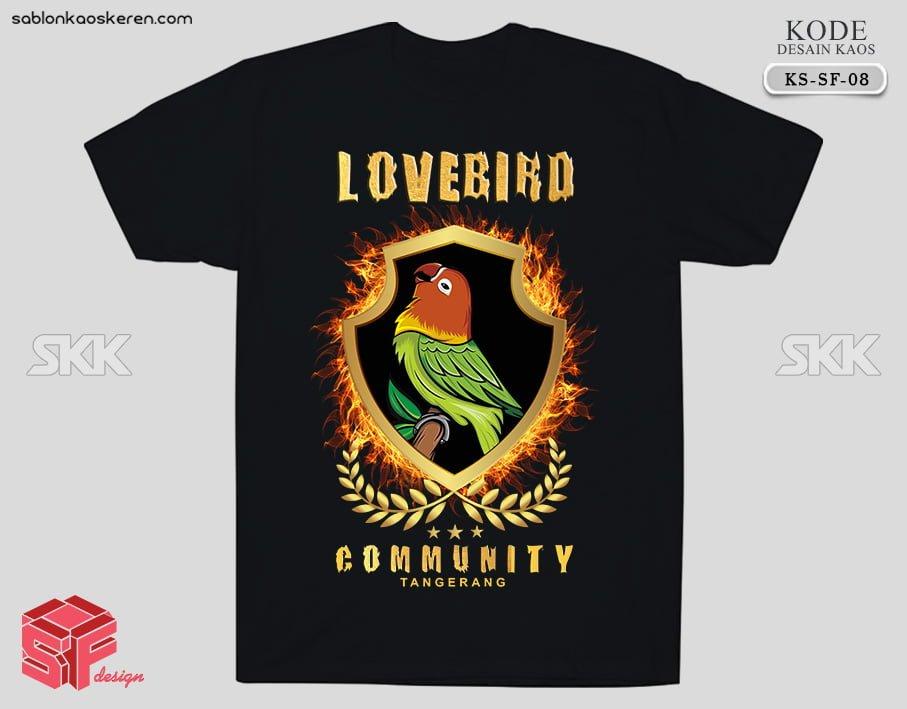 Kaos Komunitas Burung Lovebird