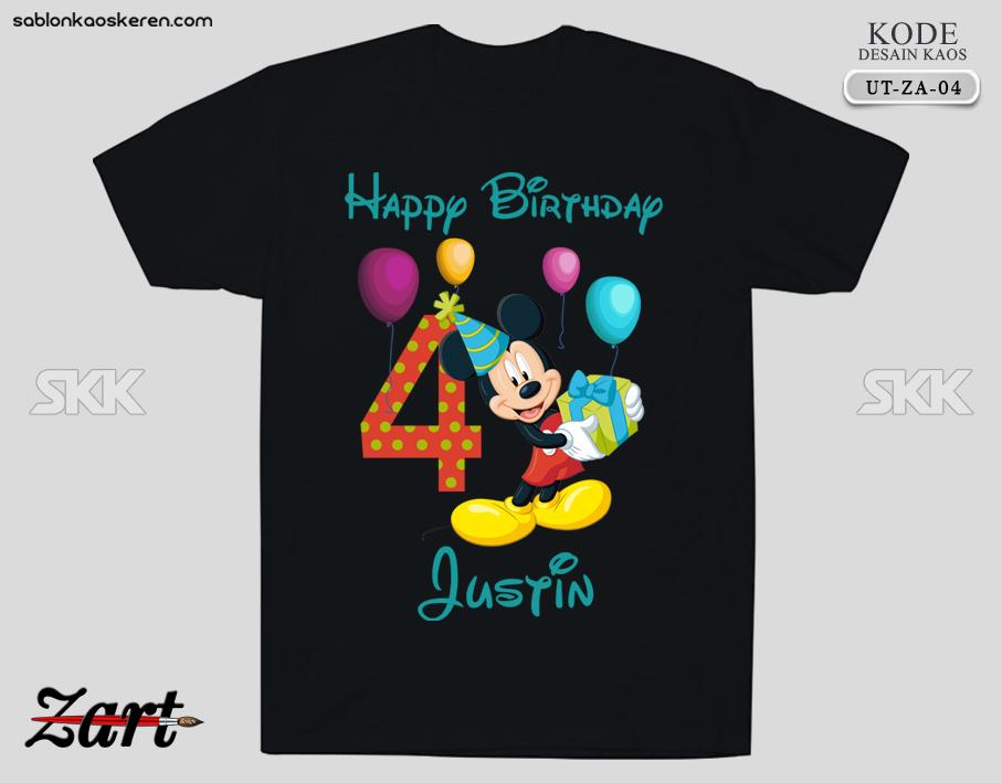 Kaos Birthday Mickey Mouse
