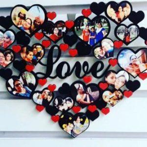 Acrylic Heart Wall Frame