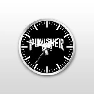 Customized Punisher Wall Clock Custom designed and printed