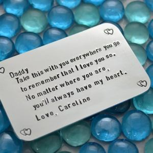 Dad Metal Quote wallet Card Customized