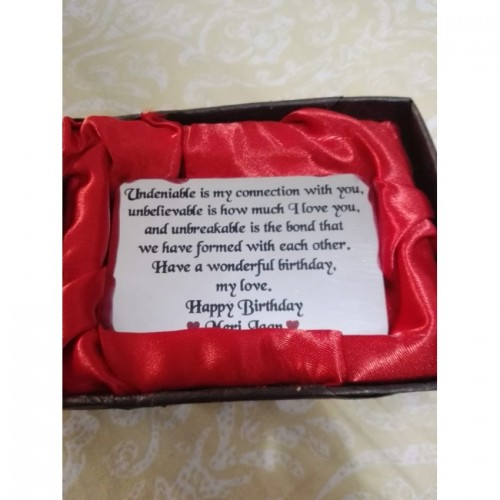 Happy Birthday Metal wallet Quote Card