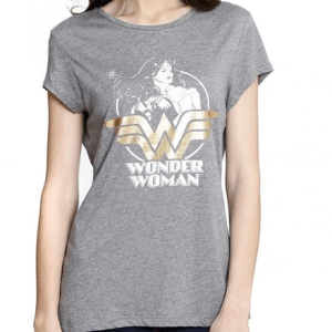 Wonder Woman Half Sleeves Women T-Shirts Custom Printed