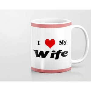 customized I Love My Wife Mug custom printed