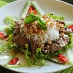 Ensalada de Beef Vermicelli (Bun Bo Nam Bo)