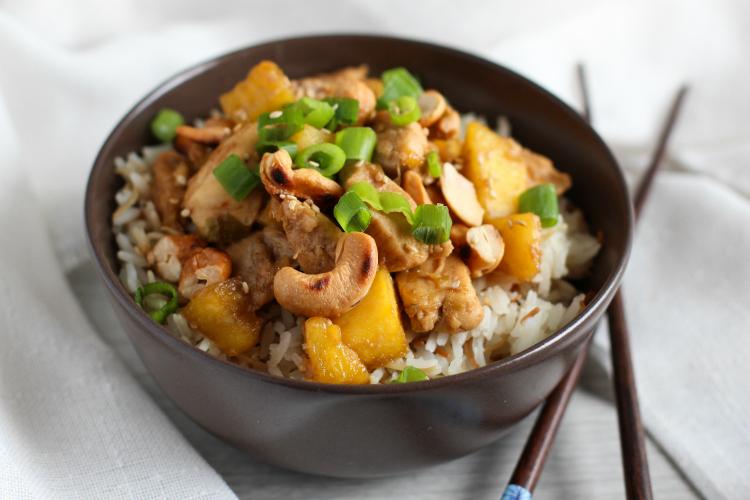 pollo-agridulce-pina-castanas