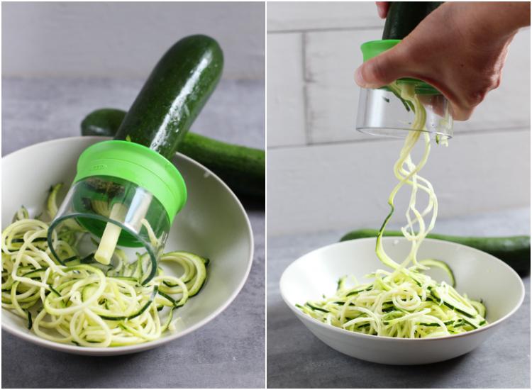 zoodles (zuchinni noodles) spiralizer - espiralizador de verduras
