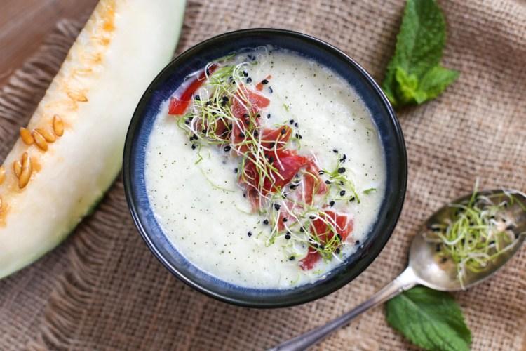 Sopa fría de melón y yogurt