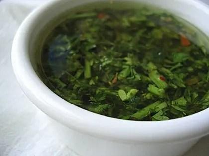Receta salsa chimichurri nicaraguense  SaborGourmetcom