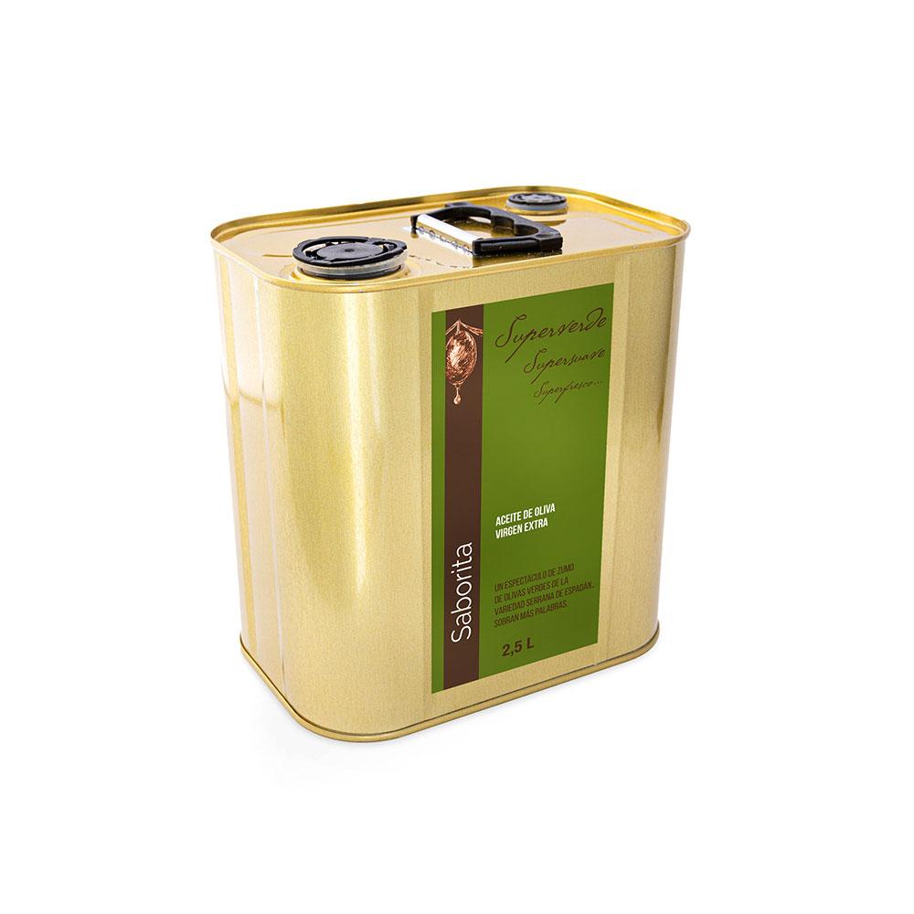 SUPERVERDE de Saborita - 2,5 litres AOVE