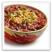 Plato de chili con carne