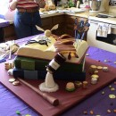 Pastel decorado con lo más significativo del personaje de Harry Potter