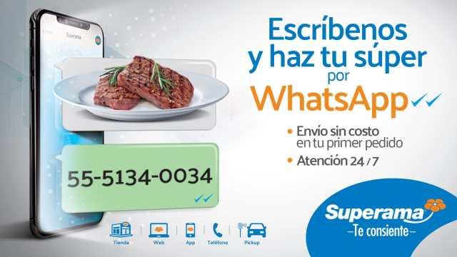 Superama: el primer supermercado por whatsapp