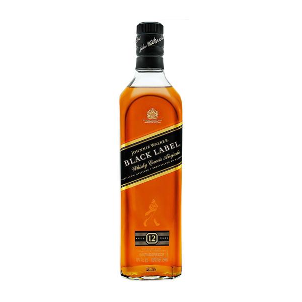 Whisky Johnnie Walker Black Label escocés 12 años 750 ml