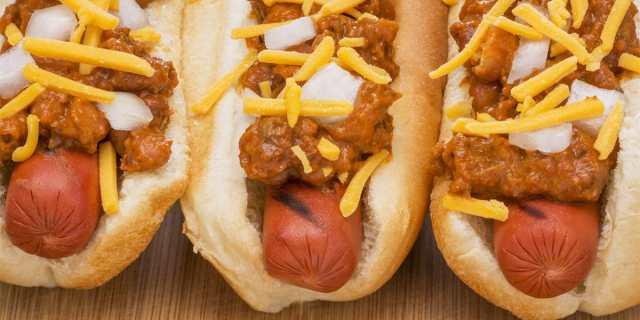 Recetas de cocina Chilli dogs estilo Coney Island