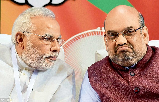 Image result for modi shah in tension