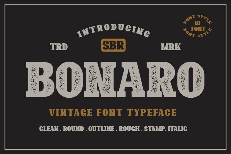 Preview image of Bonaro Vintage Font