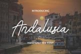 Last preview image of Andalusia – Handwritten Font
