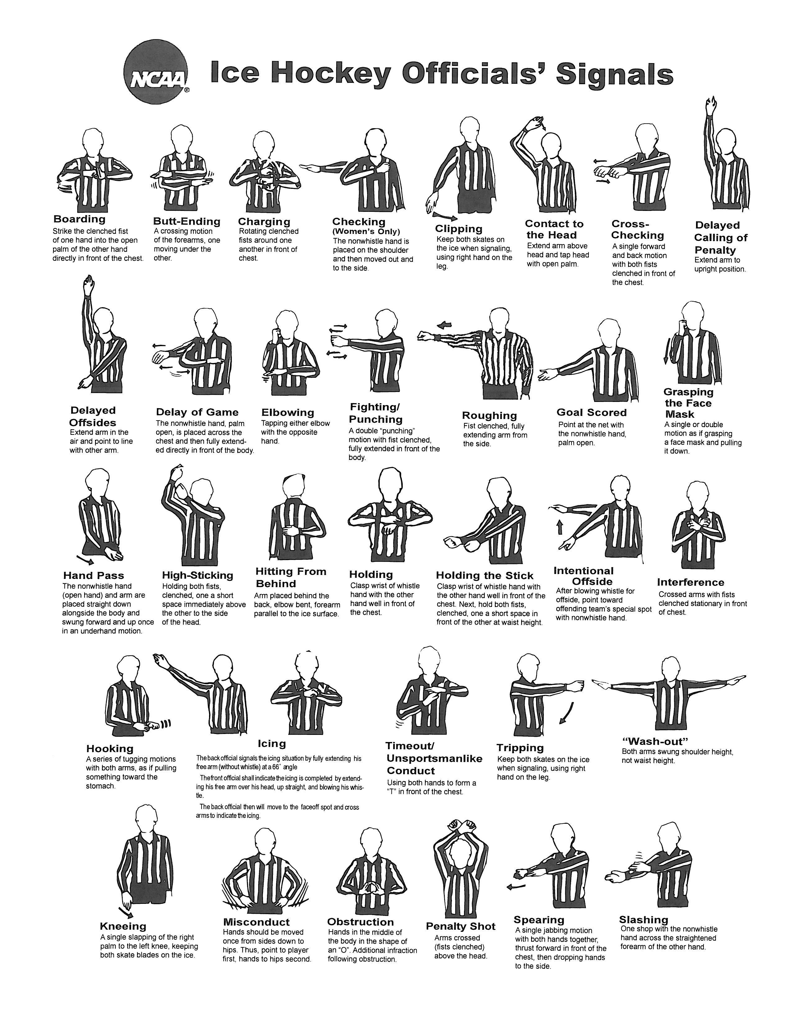 Fencing Newbie: Referee hand signals
