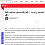 Konflik antara pemandu teksi dengan pemandu kereta Uber