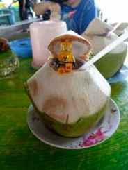 Fresh Coconut Juice, Damnoen Saduk Markets 5/10 STC's