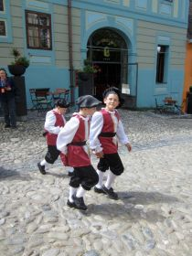 Costumed children - Sighisoara