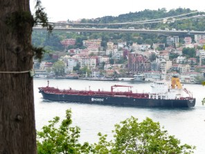 The Bosphorus - a tight squeeze