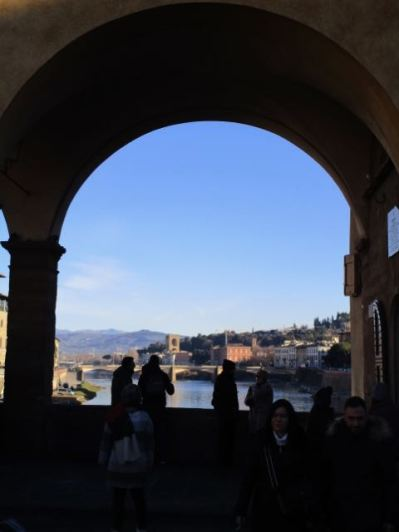 View from centre of Ponte Vecchio