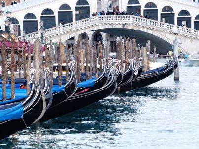 Gondolas by the Rialto