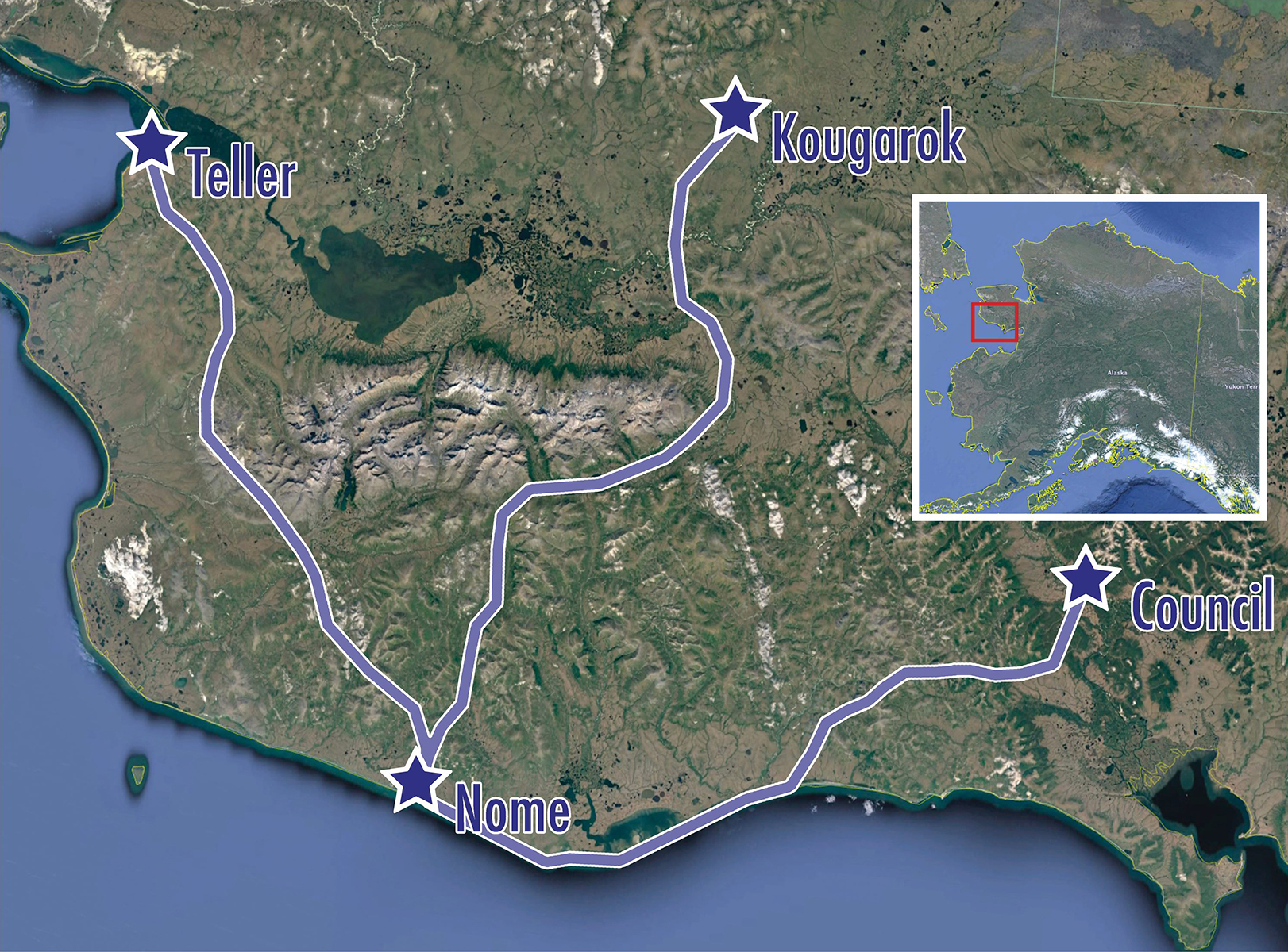 Nome, Alaska: A Bird Photographer's Goldmine - Map