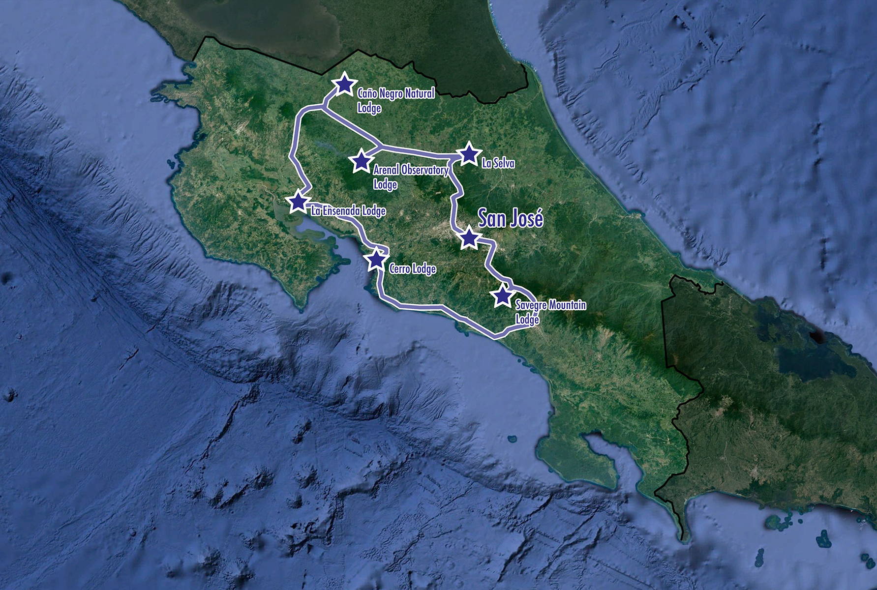 Costa Rica: A 14-Day Countrywide Adventure - Map