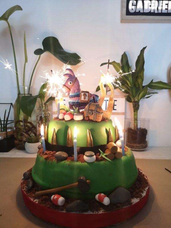 Le gâteau Fortnite