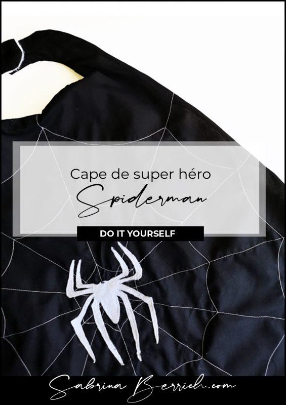 Cape super-héro Spiderman