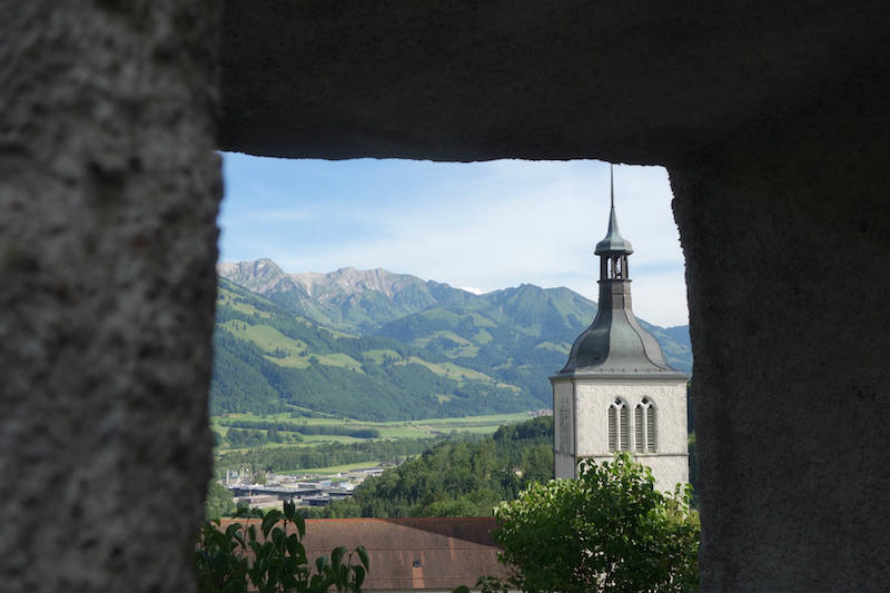 Ausblick von Gruyères