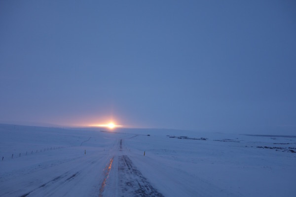 Sonnenaufgang nähe Husavik