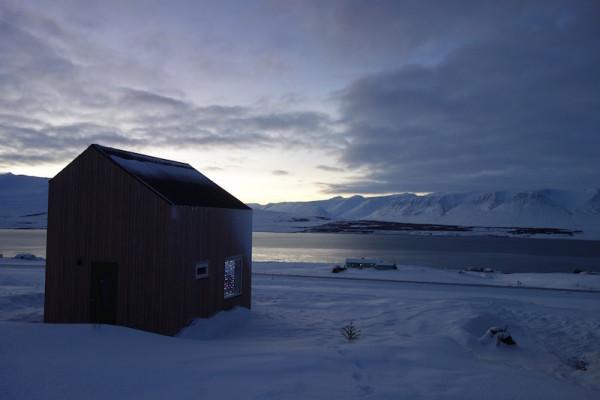 Aussicht auf Bucht von Akureyri