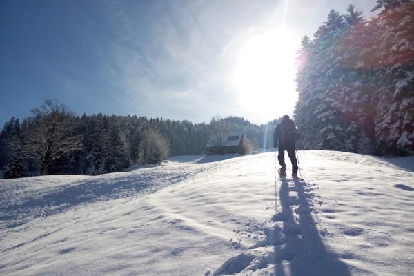 Steil geht es hoch durch wundervolle Schneelandschaften