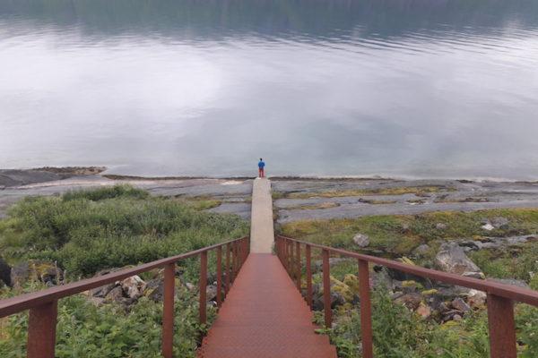 Norwegen ist, wenn sogar Raststellen ein Hingucker sind. Hier am Beispiel von Hellåga. Eigentlich nur als Toiletten- und Fischstopp nach dem Vega-Aufenthalt gedacht für uns, wurde die Raststelle aufgrund eines geschlossenen Campings schlussendlich auch unser Übernachtungsort. Ah ja, gelernt haben wir, dass man bei Fährenüberfahrten sehr beizeiten parat stehen soll –sonst wartet man gut mal ein paar Stunden, bis das Auto doch noch Platz findet.