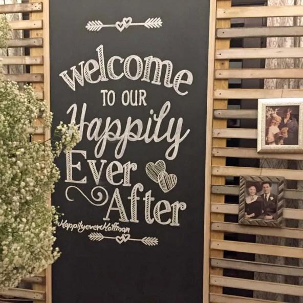 sabrina cadini wedding design hashtag photo booth backdrop prop decor