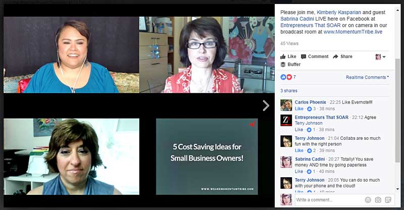 sabrina-cadini-zef-zan-video-interview-small-business-entrepreneurs-coach-live-streaming